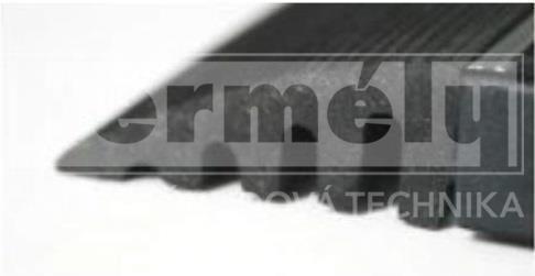 Gumový náběh rohoží 22 mm - černý