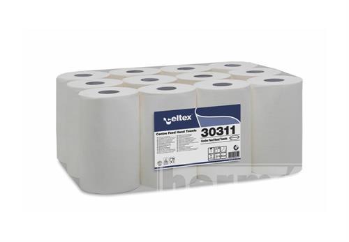 Papírové ručníky v miniroli CELTEX bílá 1 vrstva