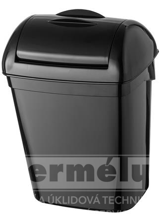 Odpadkový koš hygienický plastový 8l černý PLASTIQ LINE EXCLUSIVE