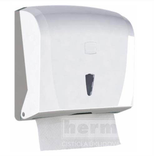 Zásobník na skládané papírové ručníky ZZ bílý neprůhledný