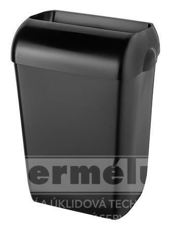 Odpadkový koš polootevřený plastový 25l černý PLASTIQ LINE EXCLUSIVE