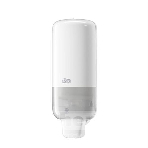 Plastový dávkovač na pěnové mýdlo S-Box TORK bílý S4