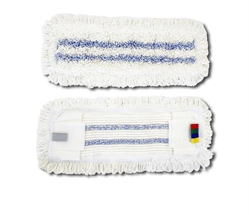 Kapsový mop mikrovlákno s modrými pruhy s jazyky 50cm Mopman