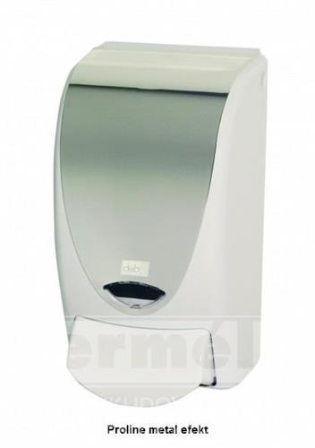 Plastový dávkovač mýdla PROLINE 1L metal efekt