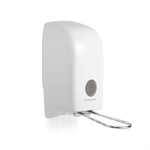 Plastový dávkovač tekutého mýdla, pěny, dezinfekce - AQUAR s loketní pákou