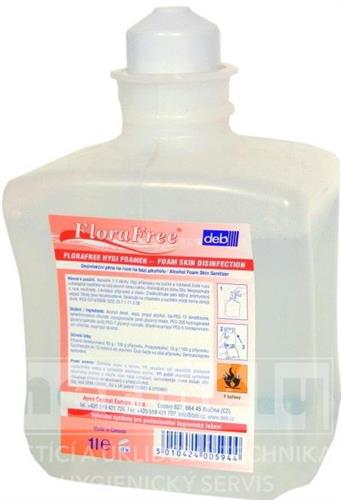 FLORAFREE HYGI FOAMER - tekuté dezinfekční mýdlo - patrona 1L