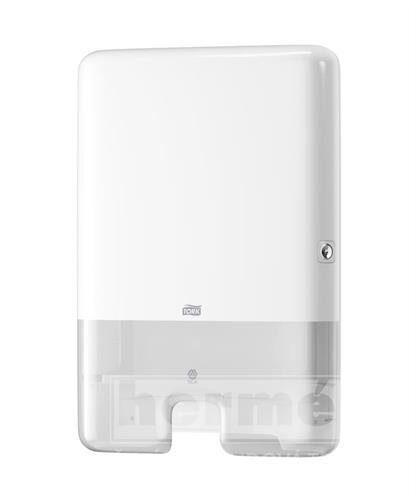 INTERFOLD X-BOX TORK H2 plastový zásobník na skládané ručníky - bílý