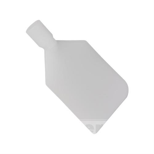 Veslovitá stěrka, pružná, polyetylenová, bílá