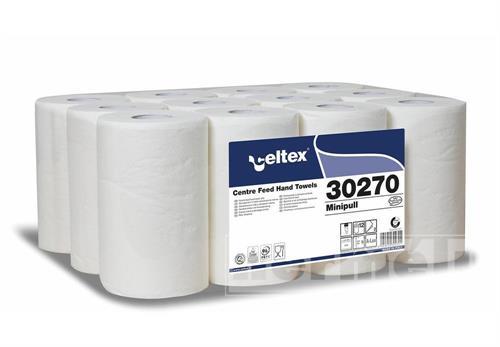 Papírové ručníky v miniroli CELTEX LUX bílá 2 vrstvy
