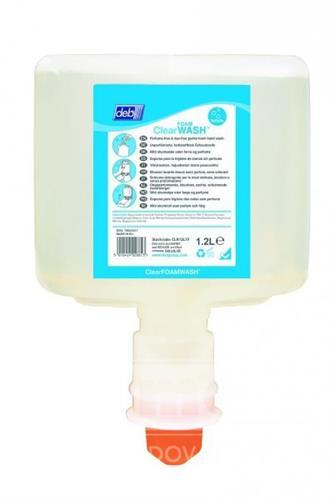TF Deb Clear Foam Wash 1,2l - neparfémované luxusní pěnové mýdlo