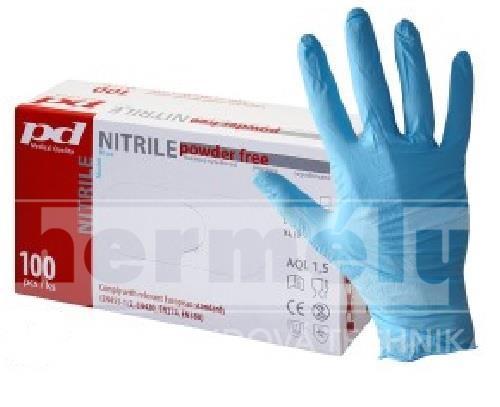 Rukavice jednorázové nitrilové nepudrované velikost S 100ks