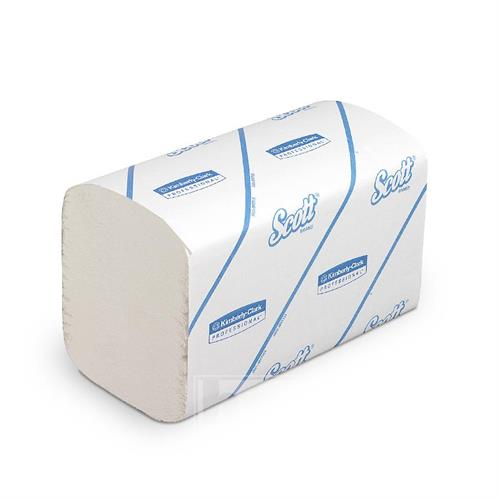 Papírové ručníky skládané - SCOTT ESSENTIAL, bílé, 1 vrstva