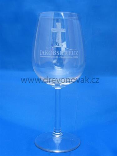 Sklenice na víno s logem č. 20019