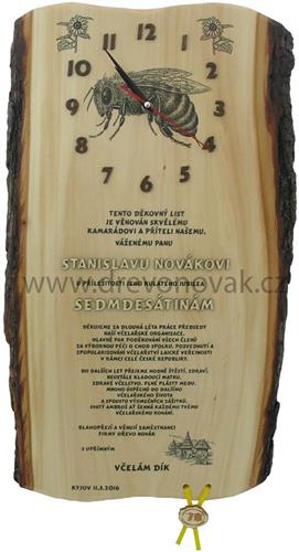 Gratulace včelař s hodinami č.695