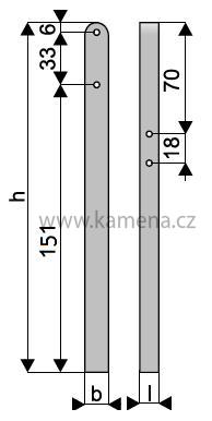 Vinohradnický sloupek řadový KZS 4-190