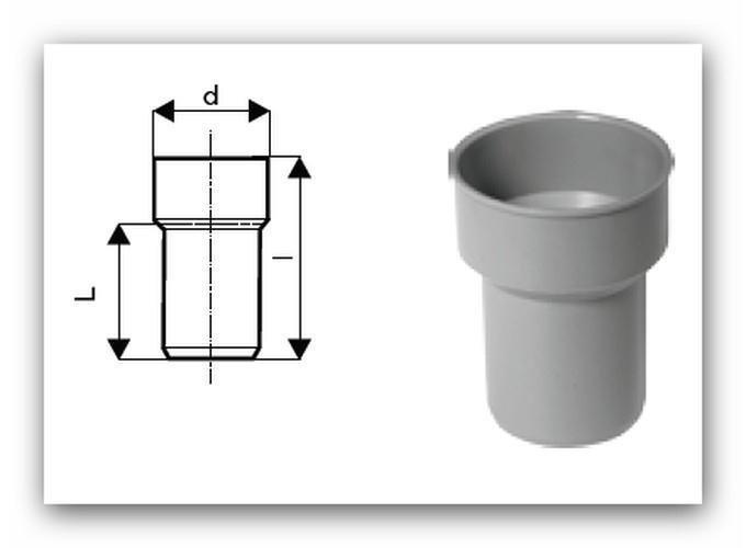 HTS Plus připojovací kus DN 40/40 pro vnitřní kanalizaci | Vodo-plasttop  s.r.o.