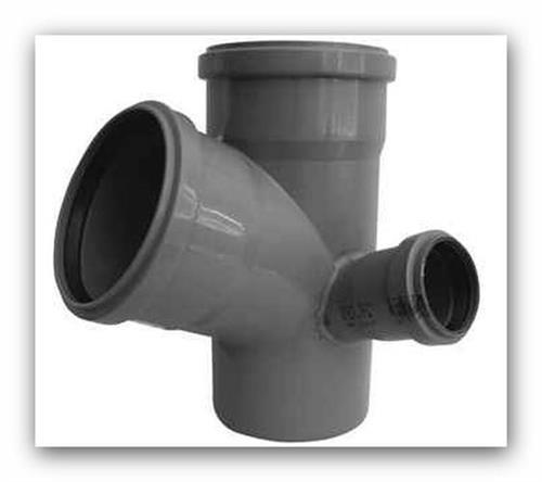 HTEPK Plus rohová paneláková odbočka DN 110/110/75mm 67° pro vnitřní  kanalizaci, pravá | Vodo-plasttop s.r.o.