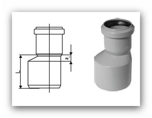 HTR Plus redukce nesouosá dlouhá DN 40/32 pro vnitřní kanalizaci    Vodo-plasttop s.r.o.